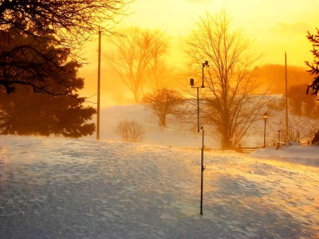 My weather station in the sunset