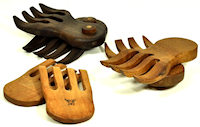 handcrafted wood salad hands