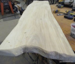 top for live edge wood bench