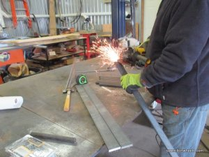 preparing steel for welding.