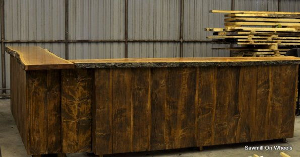 Live Edge Home Bar